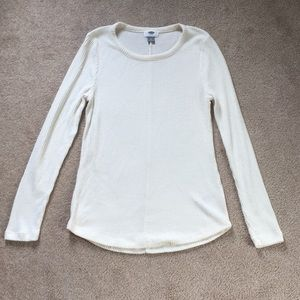 Old Navy Tops - White Old Navy Sweater Shirt